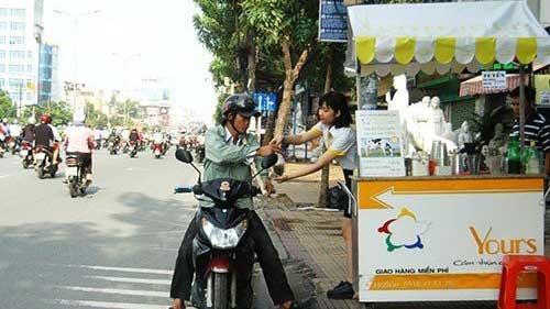 Fast Food geht nach Saigon Straßen