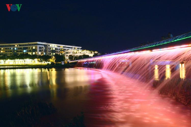 An Sao Bridge at Phu My Hung Urban Residential Area, District 7